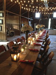 Annadel Estate Table (oliveandvine) Tags: california flowers barn dinner wine rustic motorcycle sonomacounty local winecountry candlelit catering rusticdecor annadelestate