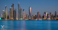 The Jewels of Dubai Marina (DanielKHC) Tags: digital marina island nikon dubai princess towers uae palm d800 blending cayan sigma50mmf14 vision:mountain=0538 vision:outdoor=099 vision:street=0521