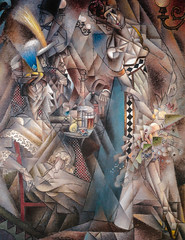 Jean Metzinger - Dancer in a Cafe, 1912 at Albright-Knox Art Gallery Buffalo NY (mbell1975) Tags: new york ny newyork art museum painting french cafe buffalo gallery museu unitedstates jean fine arts dancer muse musee m knox museo 1912 muzeum finearts beauxarts albright albrightknox mze gallerie metzinger museumuseum