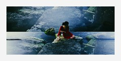 Olta (L'instant c'est moi) Tags: ocean water girl fashion lost island seaside rocks waves bluesky sensual seashell romantic conceptual reddress wander