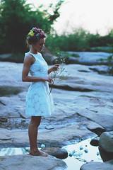 (Stephen Gwaltney) Tags: flowers summer usa white flower color nature colors girl make up fashion america hair photography virginia model dress steve rich richmond stephen ariane bailey belle isle rva wiseman belcher gwaltney