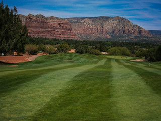 View from the fairway at Sedona Resort Golf Course in Arizona