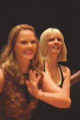 (L to R) Kate Levering (Cassie) and Jenifer Foote (Sheila) during rehearsal for A Chorus Line, produced by Music Circus at the Wells Fargo Pavilion June 24 – 29, 2014. Photos by Charr Crail.