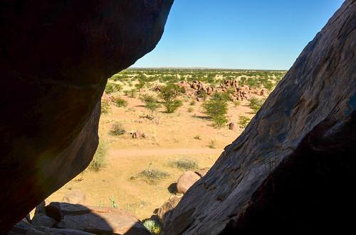 On boulders near Sorris Sorris