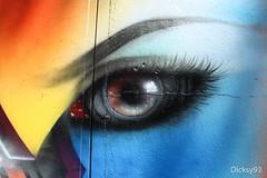 Le souci du dtail (Dicksy93) Tags: street urban paris france art colors wall seine canon painting eos graffiti paint outdoor couleurs tag oeil peinture graff 75 mur extrieur iledefrance bombing ville regard 19me sourcil 650d img9477 dicksy93 pressionisme