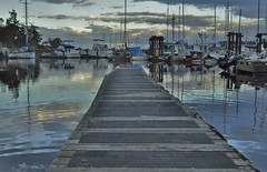 By the dock (jana_westcoastimages) Tags: ocean blue sunset nature boat nikon britishcolumbia d90