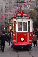 Nostalgic Ride (puthoOr photOgraphy) Tags: turkey tram istanbul taksimsquare istiklalstreet istanbulmetro istikllcaddesi nostalgictram abrahamputhoor puthoorphotography