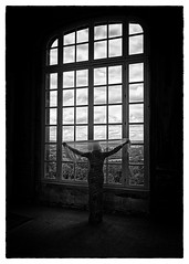 Window on the World... (Harleynik Rides Again.) Tags: harleynikridesagain window light mono woman backshot france domaine filmnoir tregourez