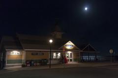 Full Moon, Oak Bluffs Ticket Office (Bill McBride) Tags: newengland summer massachusetts night marthasvineyard outdoors
