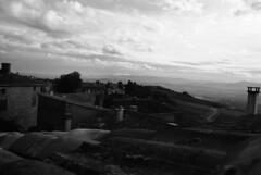 SURLESTOITS (Chlo Chenivesse) Tags: argentique photographie street art paysage hauteur sky clouds view horizon road toits campagne