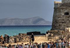movie set Heraklion, Crete (neilalderney123) Tags: 2016neilhoward crete heraklion filingmovie actors venetion fort landscape