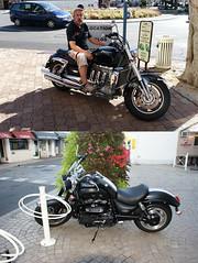 DSC08386 copie (C&C52) Tags: extrieur portrait homme moto diptyque