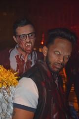 He's Behind You !!! - Explore 10/18/2016 (Little Hand Images) Tags: universalstudioshalloweennights2016 vampires costumes makeup halloween actors fangs teeth eyes nerdglasses highschool nightphotography explore10182016