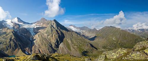 Wilder Freiger pano, Stubai Alps, Austria