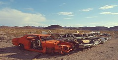 Today's daily specials... (BillsExplorations) Tags: abandonedcar rust automobile abandoned decay old vintage route66 discarded junkyard ludlow california forgotten dailyspecial mixormatch scrapped