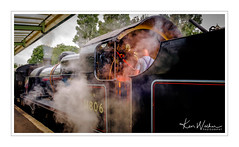 All Fired Up - Engine 31806 (Ken Walker Photography) Tags: steamdriven norden steamengine dorsethertitageline coastalline swanagerailway tracks engineering station railways