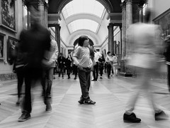 Capturing Motion Walking Real People Lifestyles Rear View Blurred Motion Full Length Men Person Architecture Motion Large Group Of People Indoors  Day People Adult Eye4photography  Louvre Paris Myguyalf Black And White (dinalfs) Tags: capturingmotion walking realpeople lifestyles rearview blurredmotion fulllength men person architecture motion largegroupofpeople indoors day people adult eye4photography louvre paris myguyalf blackandwhite