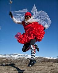 Valentine Fairy (landbergmary) Tags: marylandberg conceptualphotography conceptualportrait portrait brave courageous puttingitoutthere uninhibited fearless redtutu magicwand valentine