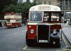 17 Mac Tours 16 (YSL 334) exGuernseybus Waverley Aug01 (Copy) (focus- transport) Tags: bristol leyland open toppers