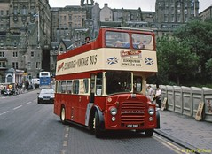 16 Mac Tours (JTF 218F) Waverley Aug01 (Copy) (focus- transport) Tags: bristol leyland open toppers