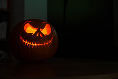 Jack Skellington Pumpkin (Geekography) Tags: 2016 halloween jack file pumpkin carving nightmarebeforechristmas