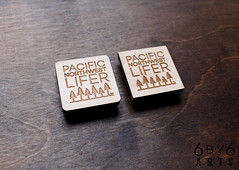 Wood Magnets - Pacific Northwest Lifer™ and Happy Places Series (thea superstarr) Tags: lasercut laserengraved pacficnorthwest pnw pacific northwest lifer pacificnorthwestlifer 6by6arts happyplaces happyraincloud happy treehappy mountaini cloud pnwmade in usa handmade