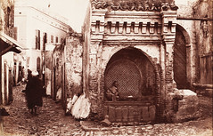 Maroc, c. 1875. A moorish well. Fontaine des slaghines, Tanger. (Benbouzid) Tags:  maroc morocco fontaine tangier tanga  seraghine slaghine sraghine well city