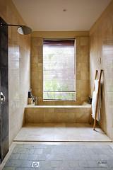 Shower and sunken bathtub (A. Wee) Tags: sankara resort hotel  ubud bali  indonesia  bathroom shower