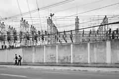 High Voltage (- Guilherme Magalhes -) Tags: high voltage subestacao energia casal amor choque street pb black white preto branco rua sao jose campos sp couple love summicron