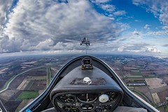 On tow. (bainebiker) Tags: gliding flying plane glider peterboroughandspalding glidingclub sky fields exhilarating canon15mmfisheyelens crowland lincolnshire uk