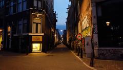 (Lin ChRis) Tags: street amsterdam  night  light  netherlands holland trip  travel silent  evening