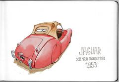 AutoClasica (ftessa) Tags: ftessa fedetessa croquis sketches sketch sketchbook buenosaires autoclasica expo jaguar xk