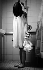 Disturbed (Donald Palansky Photography) Tags: sonyslta99v 50mmf14 doll knife creepy dark sigma50mmf14dghsmartlens