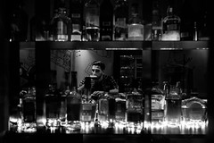 Cocktail (Pierre Pichot) Tags: alcool alone bar black blackwhite blackandwhite bottles city classicchrome cluj cocktail drink drinking fuji fujifilm glass man monochrome napoca night outdoor romania street streetphotography streets urban white window x100t