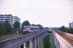 Once upon a time - The Netherlands - Amsterdam Bijlmermeer (railasia) Tags: holland noordholland amsterdam bijlmermeer metrosubwayunderground emu2 infra elevatedstructure eighties