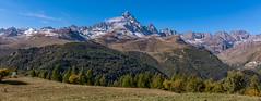 Monviso - Alps - Italy (carlogaia) Tags: re di pietra valle po alpi piemonte italia ostana cn cuneo autunno autumn flag mountain montagna prato boschi vette neve