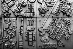 Day #3224 (cazphoto.co.uk) Tags: project366 beyond2922 281016 panasonic lumix dmcgh3 panasonic1235mmf28lumixgxvarioasphpowerois chunky pimlico sculpture underground eduardopaolozzi mono monochrome texture 3d relief