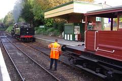 IMGP5783 (Steve Guess) Tags: alton alresford ropley hants hampshire england gb uk train railway engine loco locomotive heritage preserved standard 4mt 76017 260 queen mary sr brake van guards
