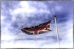 Patriotic (wilstony1) Tags: patriotic proud flag union jack canon eos650d outside blowing windy sky
