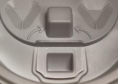 Keeping A Lid On It (Helen Orozco) Tags: macromondays arrow plastic lid moulded pareidolia