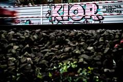 Just do it (blende9komma6) Tags: graffiti hannover railway db art nike justdoit nikon d7100 wall wand schallschutz train zug pink rosa