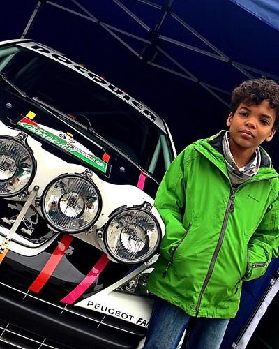 Mehdy dans les Paddock du Rallye du Condroz   @Soleil