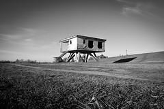 Watch tower (Kuzz1984) Tags: baywatch nasip sava crnobijela slavonija croatia