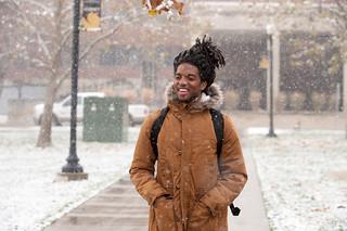 Snow on campus - December 7, 2016