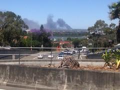 Where there's smoke, there's fire ... (highplains68) Tags: aus australia nsw newsouthwales ryde strathfield churchstreet st revesby mavisst car wrecking yard