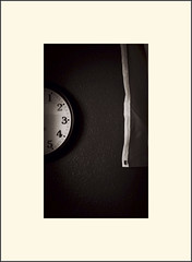Flag. Clock (Bob R.L. Evans) Tags: abstract time clock minimalism unusual ipadphotography sepiatone
