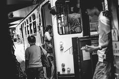 (hokkeiv) Tags: nikon d810 fx nikkor 50mm f14g hongkong tram monochrome street
