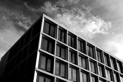 Building, Ulm (f.bigslave) Tags: building ulm germany travel bw black white clouds