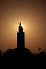 Moschea Koutoubia al tramonto (giulio.pedretti) Tags: marrakech marocco sunset market mosque