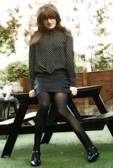 Out for Lunch (Amber :-)) Tags: black leatherette mini skirt tgirl transvestite crossdressing